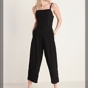Square-Neck Cami Jumpsuit
